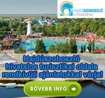 Hajdúszoboszló hivatalos turisztikai oldala rendkívüli ajánlatokkal várja! Hajdúszoboszló, a felüdülőhely!